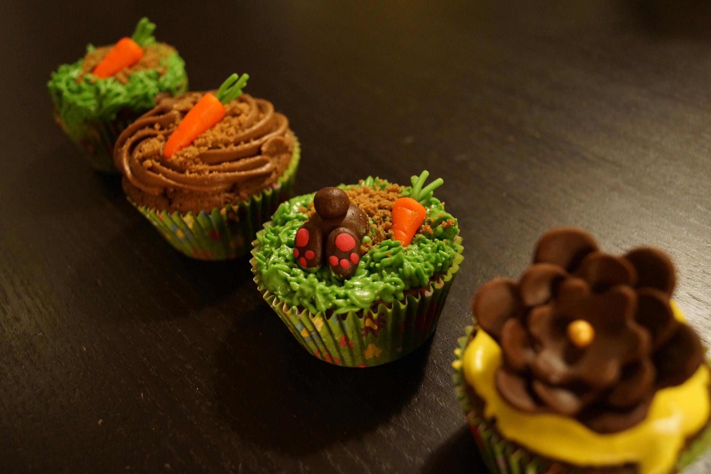 Three Easter Cupcakes