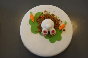 Easter bunny cake 2014 from above
